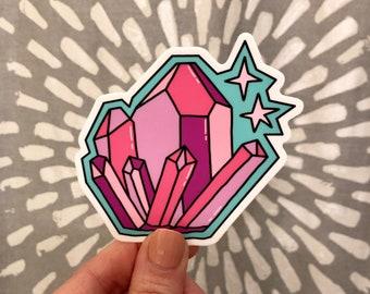 Cute Sticker. Vinyl Sticker. Trendy Sticker. Laptop Sticker. Sticker Laptop. Good Vibes. Water bottle Sticker. Crystals. Crystal Cluster.