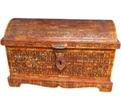 Large Moroccan Storage Chest - Hand-Carved Camel Bone - Custom Made Furniture by Berber Artisan