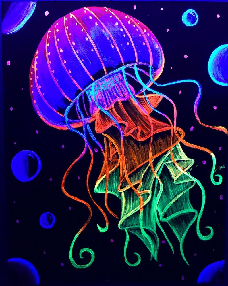Wondrous Psychedelic Jellyfish Blacklight Home Remodeling Inspirations Genioncuboardxyz