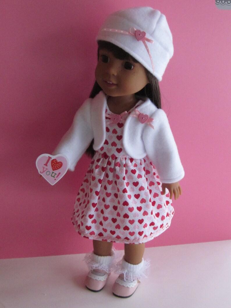 "Patriotic Summer Outfit for 14/"" American Girl Wellie Wishers Doll bonus socks"