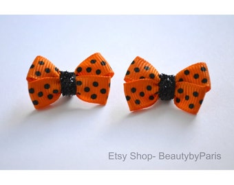 Tiny Halloween Pigtails - Dog Bow