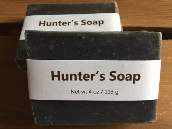 Dirt Scented Activated Charcoal Cold Process Soap for Hunters, 4 oz / 113 g bar