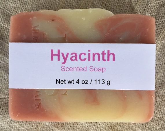 Hyacinth Scented Cold Process Soap with Shea Butter, 4 oz / 113 g bar