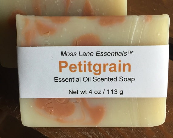 Petitgrain Essential Oil Scented Cold Process Soap with Shea Butter