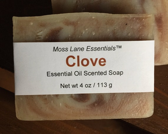 Clove Bud Essential Oil Scented Cold Process Soap with Shea Butter