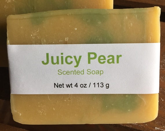 Juicy Pear Scented Cold Process Soap with Shea Butter