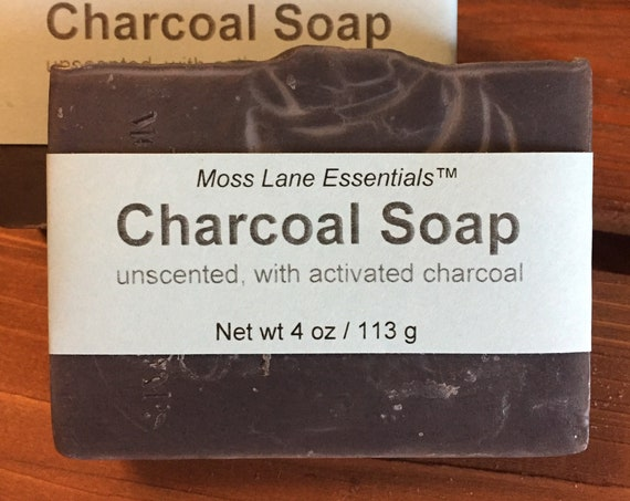 Activated Charcoal Unscented Cold Process Soap