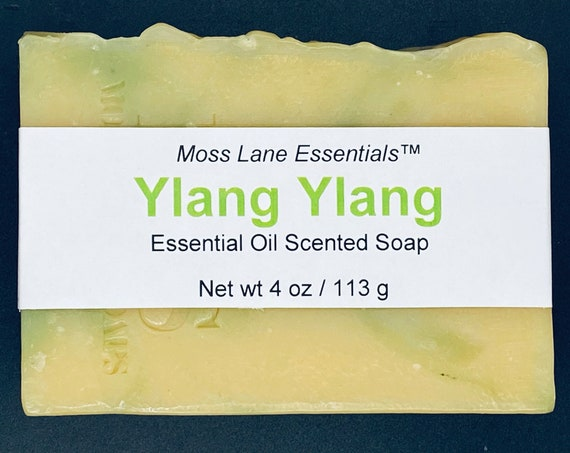 Ylang Ylang Essential Oil Scented Cold Process Soap with Shea Butter, 4 oz / 113 g bar