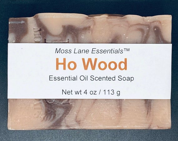 Ho Wood Essential Oil Scented Cold Process Soap with Shea Butter, 4 oz / 113 g bar