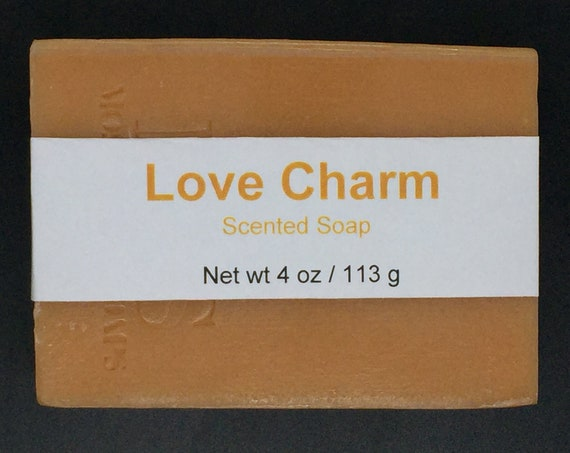 Love Charm Scented Cold Process Soap with Shea Butter, 4 oz / 113 g bar