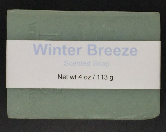 Winter Breeze Scented Cold Process Soap with Shea Butter, 4 oz / 113 g bar