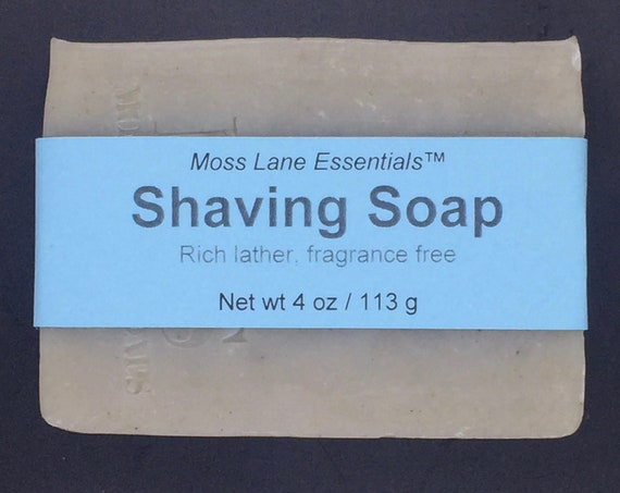 Shaving Soap--Unscented Cold Process Soap with Bentonite Clay and Oatmeal