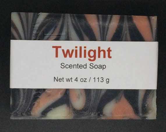 Twilight Scented Cold Process Soap with Shea Butter, 4 oz / 113 g bar