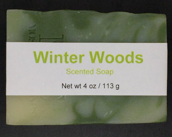 Winter Woods Scented Cold Process Soap with Shea Butter, 4 oz / 113 g bar