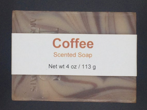 Coffee Scented Cold Process Soap with Shea Butter, 4 oz / 113 g bar