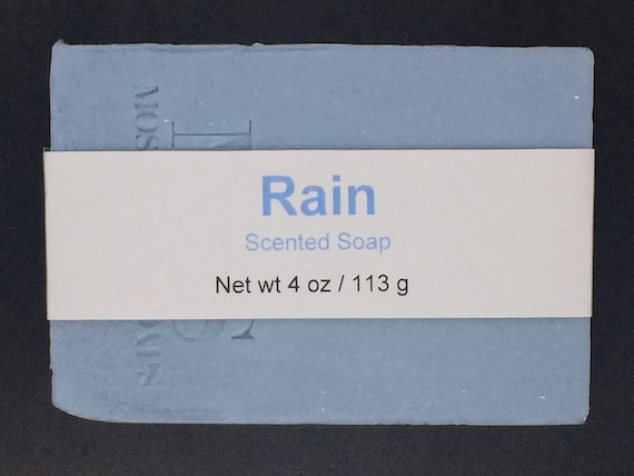 Rain Scented Cold Process Soap with Shea Butter, 4 oz / 113 g bar