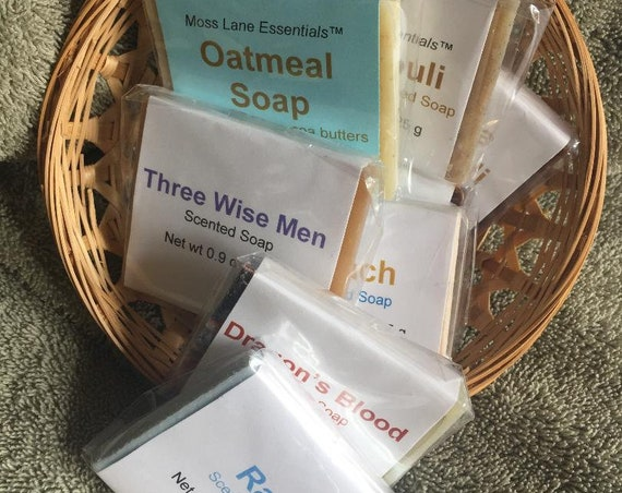8-Pack Grab Bag of Guest Size Cold Process Soap Bars--Our Choice