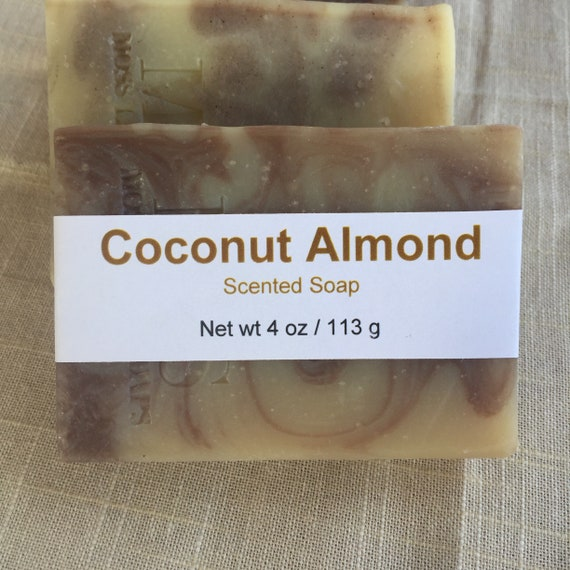 Coconut Almond Scented Cold Process Soap with Shea Butter
