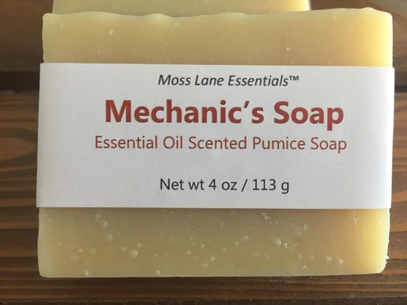 Mechanic's Cold Process Soap with Pumice and Orange Essential Oil