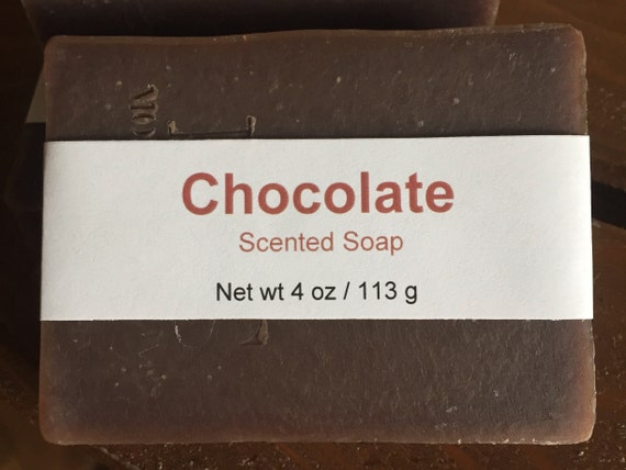 Chocolate Scented Cold Process Soap with Shea Butter, 4 oz / 113 g bar