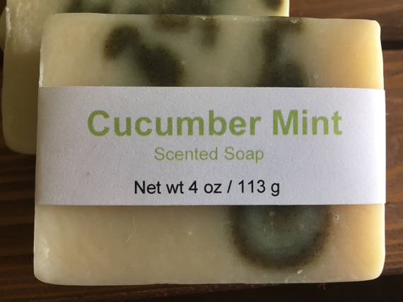 Cucumber Mint Scented Cold Process Soap with Shea Butter