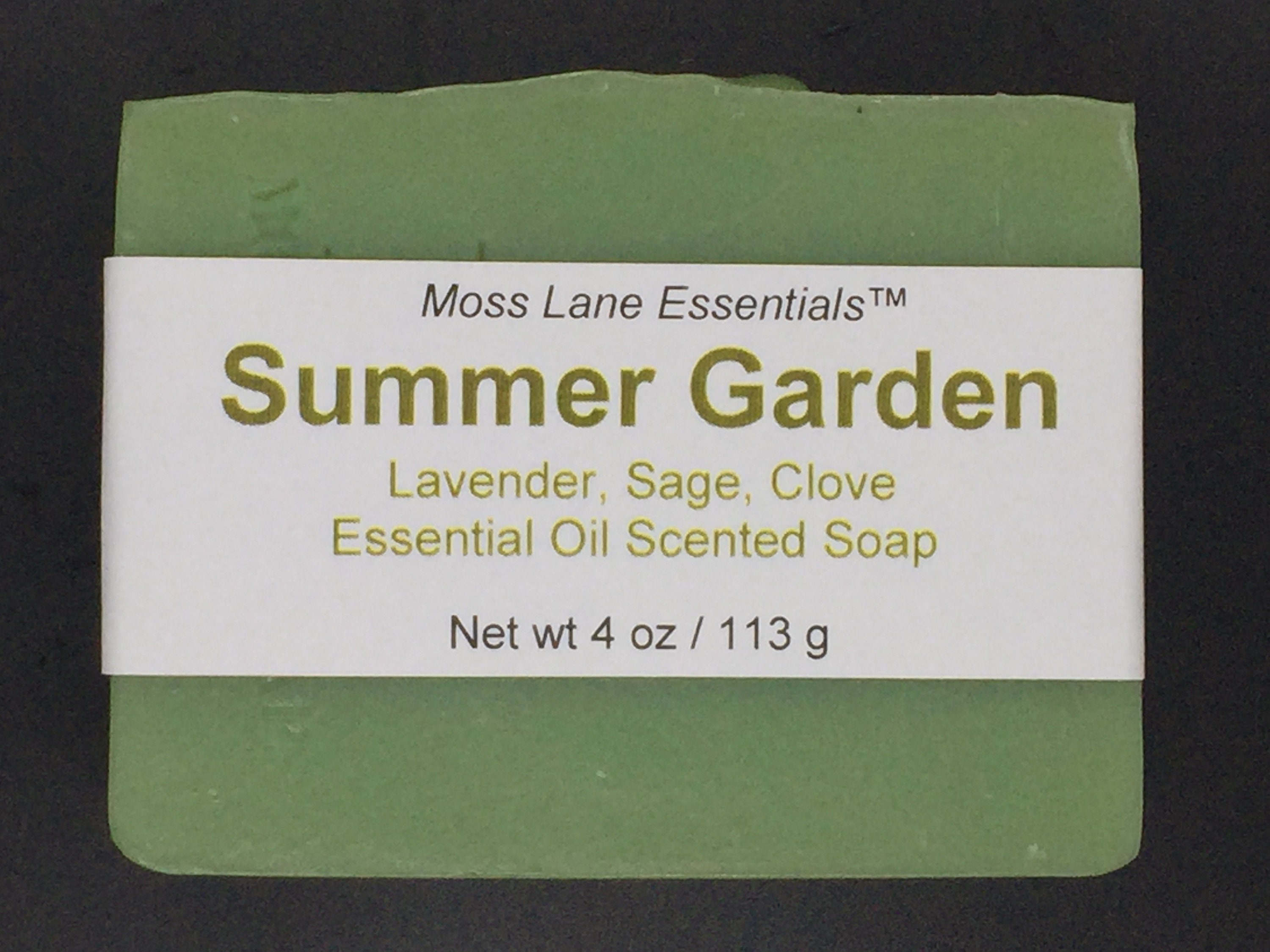 Summer Garden Clary Sage Lavender Clove Essential Oil Scented Cold Process Soap With Shea Butter