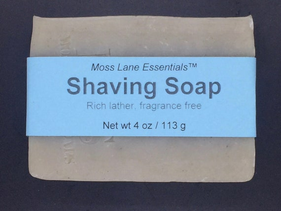 Unscented Cold Process Shaving Soap with Bentonite Clay and Oatmeal