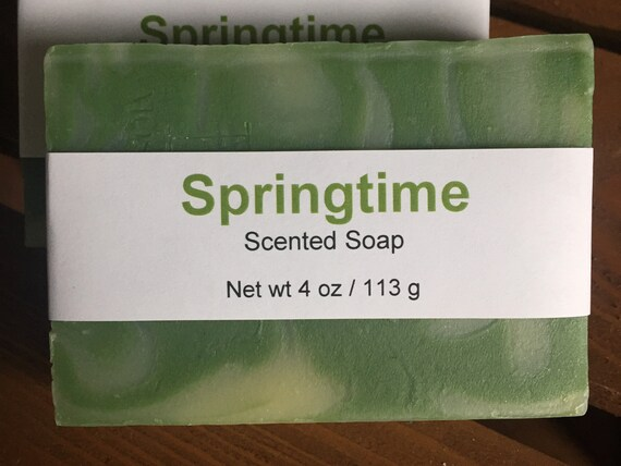 Springtime Scented Cold Process Soap with Shea Butter, 4 oz / 113 g bar