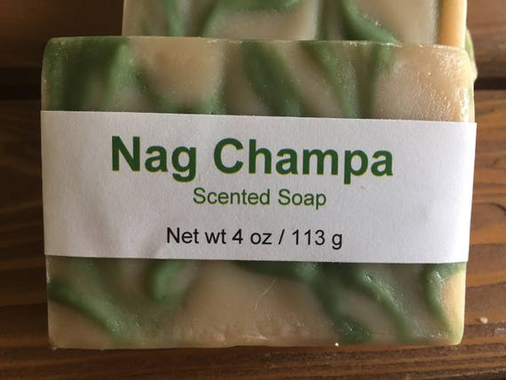 Nag Champa Scented Cold Process Soap with Shea Butter