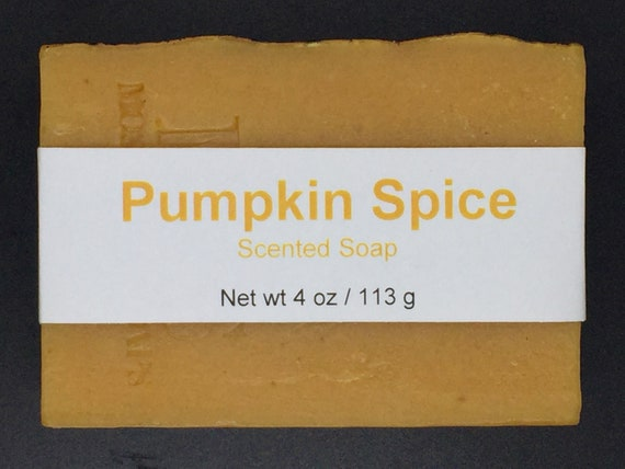 Pumpkin Spice Scented Cold Process Soap with Shea Butter, 4 oz / 113 g bar