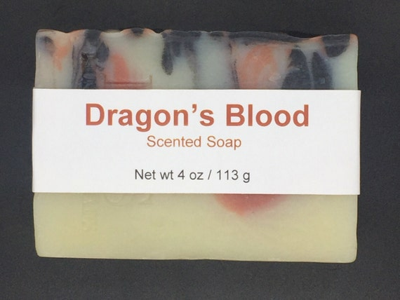 Dragon's Blood Scented Cold Process Soap with Shea Butter, 4 oz / 113 g bar