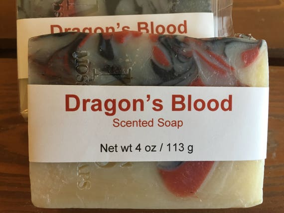 Dragon's Blood Scented Cold Process Soap with Shea Butter