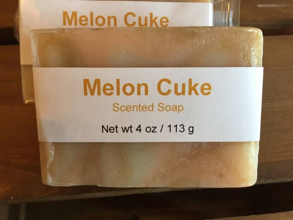 Melon and Cucumber Scented Cold Process Soap with Shea Butter