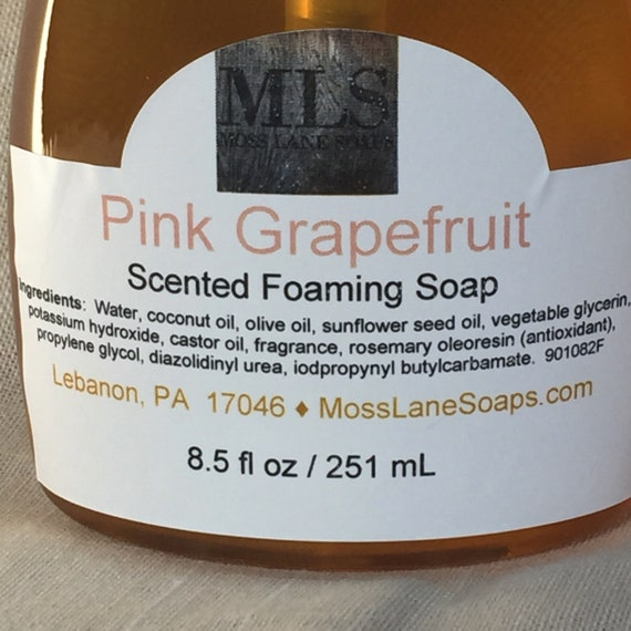 Pink Grapefruit Scented Liquid Foaming Soap, 8.5 fl oz Bottle with Foamer Top