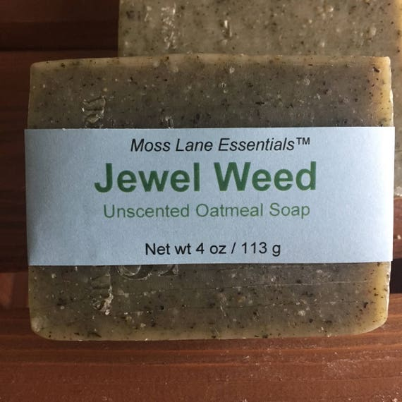 Jewel Weed Unscented Cold Process Soap with Oatmeal and Shea Butter