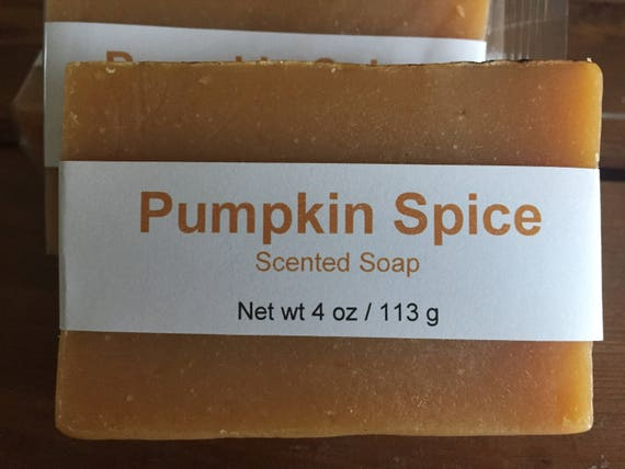 Pumpkin Spice Scented Cold Process Bar Soap