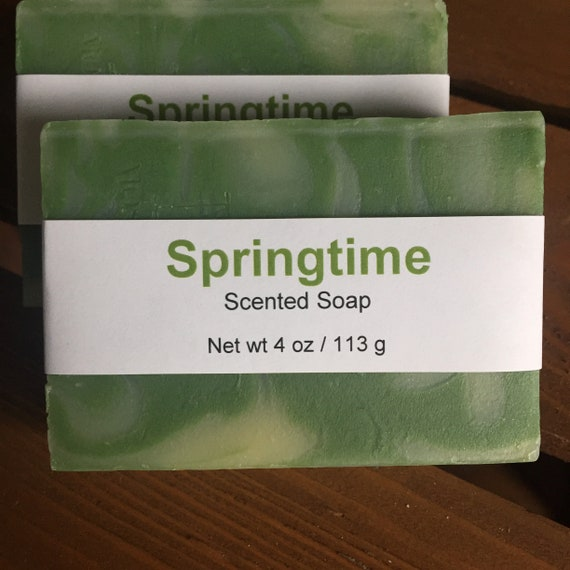 Springtime Scented Cold Process Soap with Shea Butter
