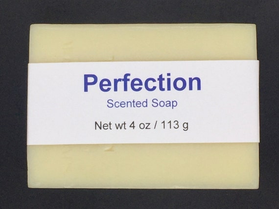 Perfection Scented Cold Process Soap with Shea Butter for Men, 4 oz / 113 g bar