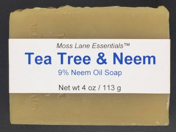 Tea Tree and Neem Oil Cold Process Soap, 4 oz / 113 g bar