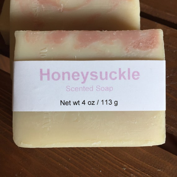 Honeysuckle Scented Cold Process Soap with Shea Butter