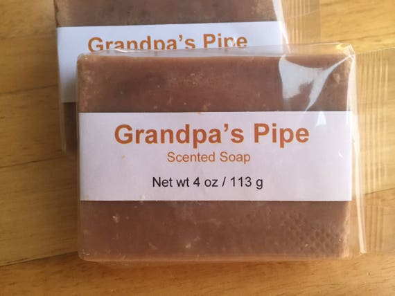 Grandpa's Pipe Scented Cold Process Soap with Shea Butter
