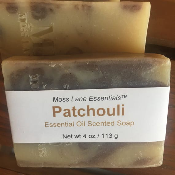 Patchouli Essential Oil Scented Cold Process Soap with Shea Butter
