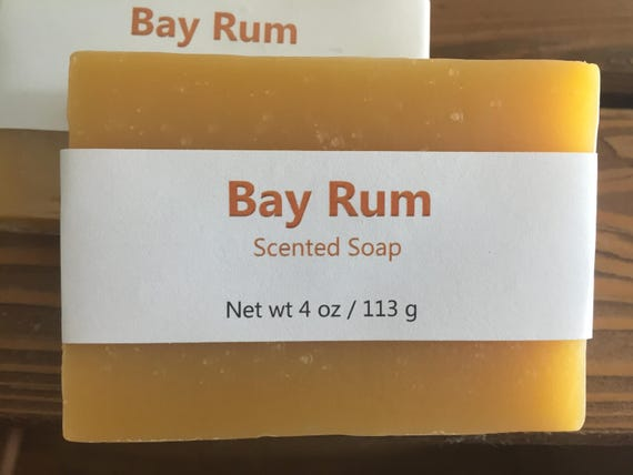 Bay Rum Scented Cold Process Soap for Men with Shea Butter
