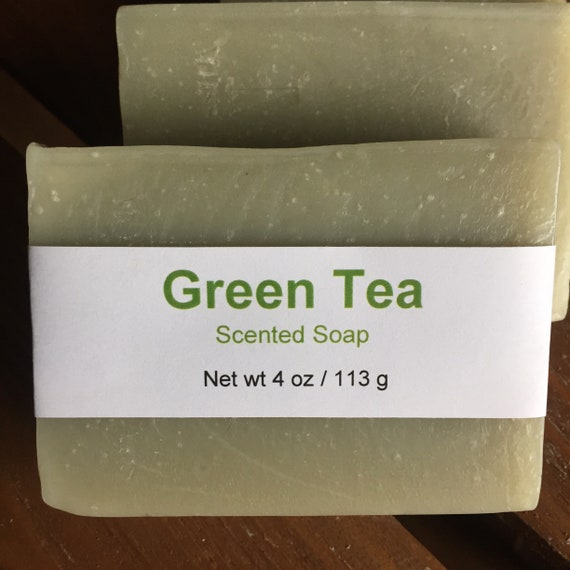 Green Tea Type Scented Cold Process Soap with Shea Butter