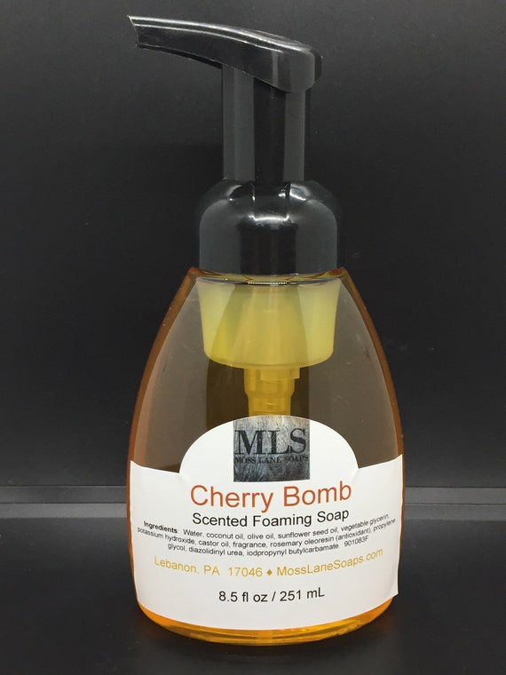 Cherry Bomb Scented Liquid Foaming Soap, 8.5 fl oz Bottle with Foamer Top