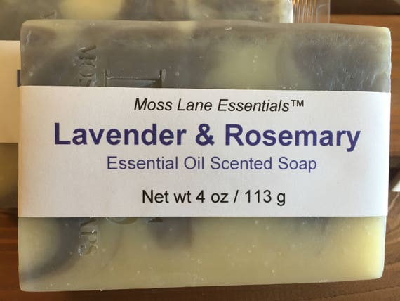 Lavender and Rosemary Essential Oil Scented Cold Process Soap with Shea Butter