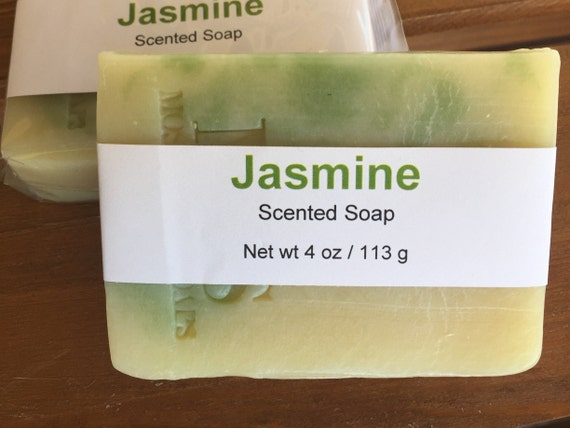 Jasmine Scented Cold Process Soap with Shea Butter, 4 oz / 113 g bar