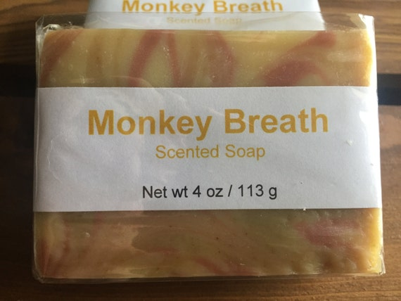Monkey Breath Banana and Fruit Scented Cold Process Soap with Shea Butter