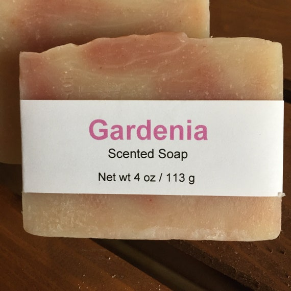 Gardenia Scented Cold Process Soap with Shea Butter