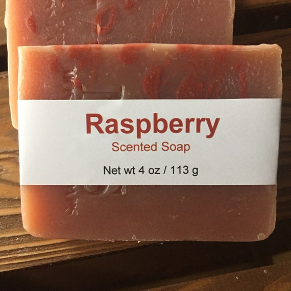 Red Raspberry Scented Cold Process Soap with Shea Butter